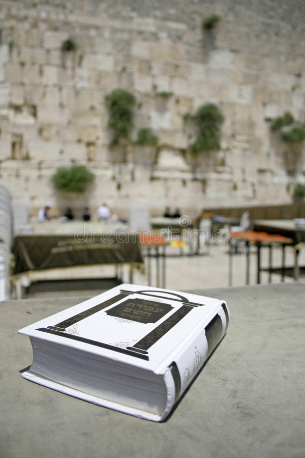 Jewish bible on table royalty free stock photo