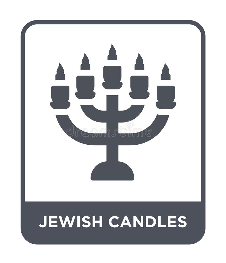 jewish candles icon in trendy design style. jewish candles icon isolated on white background. jewish candles vector icon simple stock illustration