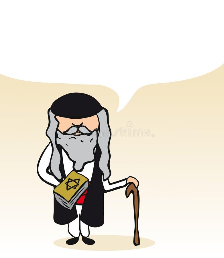 Jewish cartoon man social bubble royalty free illustration