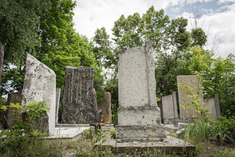 Jewish cemetery stock photo