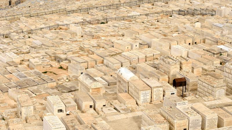 Jewish cemetery on Mount of Olives in Jerusalem
