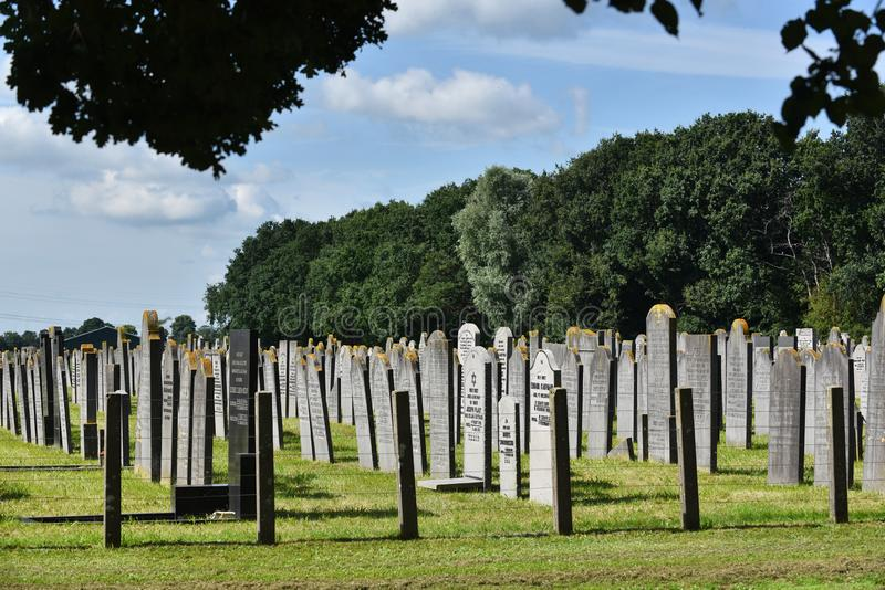 Jewish cemetery in Muiderberg, The Netherlands. The Jewish cemetery in Muiderberg is the oldest last resting place for Ashkenazi Jews in Holland royalty free stock photography