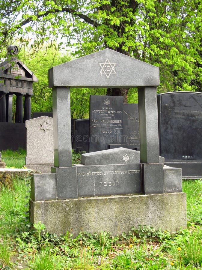 Jewish cemetery in spring stock photos