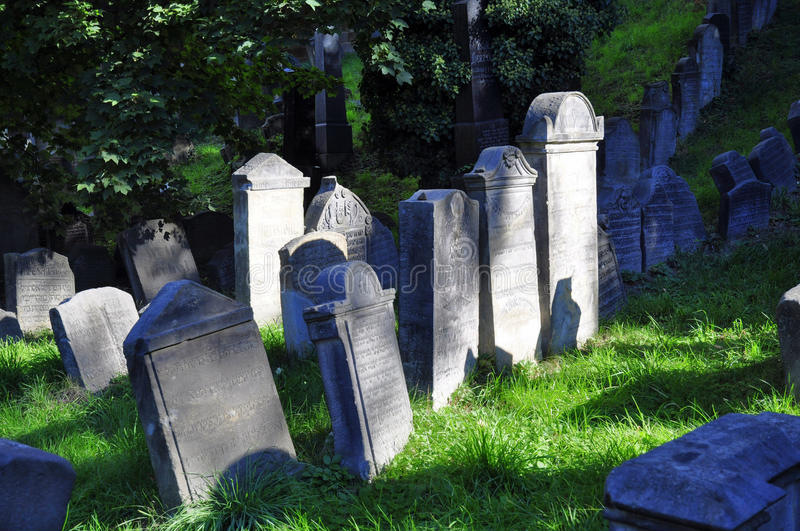 Jewish cemetery. In Turnov - Czech republic royalty free stock images