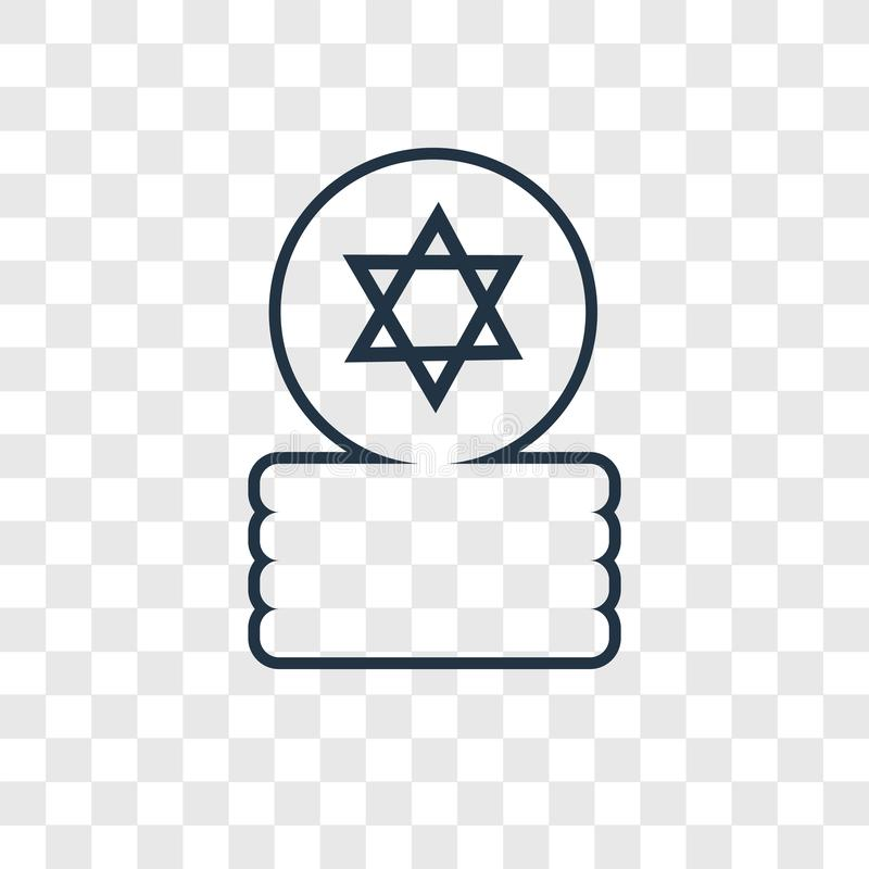 Jewish Coins concept vector linear icon isolated on transparent royalty free illustration