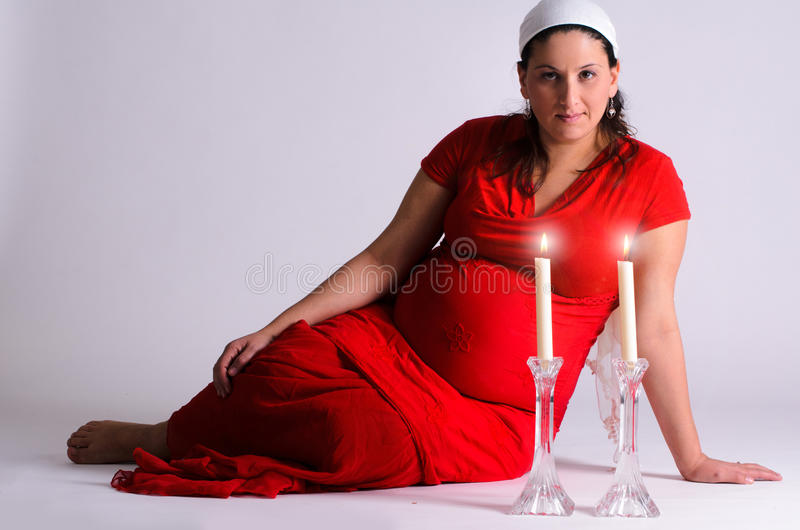 Jewish expecting mother royalty free stock photo