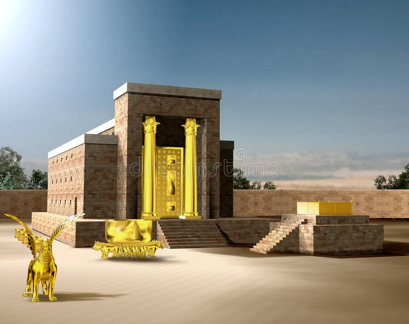 Jewish First Temple of Solomon royalty free illustration