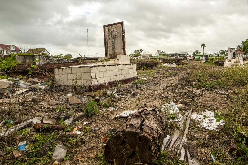 Jewish graveyard in the center of Paramaribo, Suriname. South America royalty free stock image