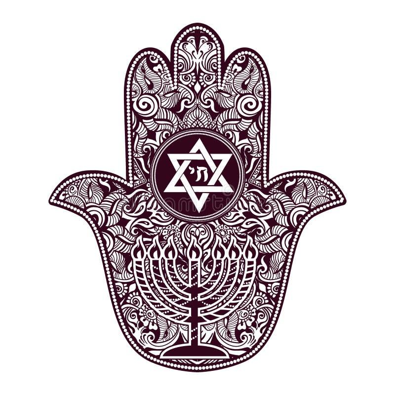 Jewish hamsa tattoo stock illustration. Illustration of ...