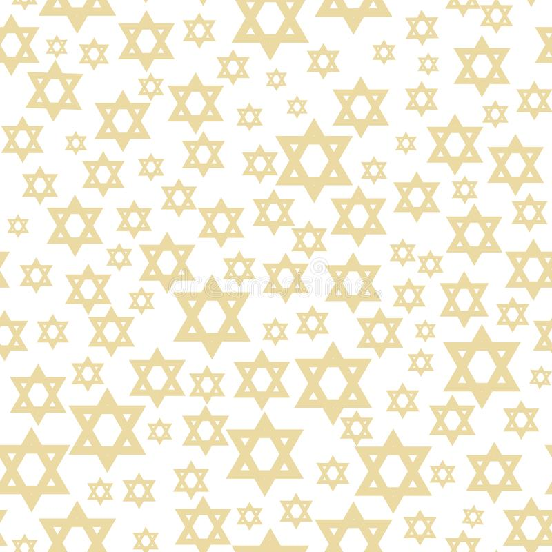 Seamless pattern with star of David vector illustration