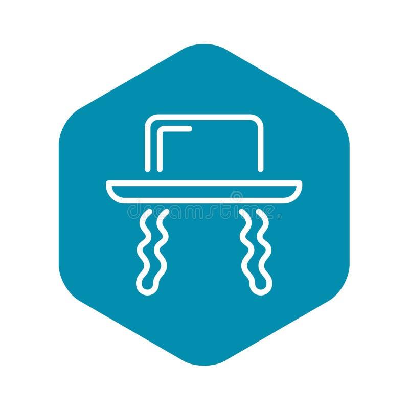 Jewish hat icon, outline style. Jewish hat icon. Outline jewish hat vector icon for web design isolated on white background royalty free illustration