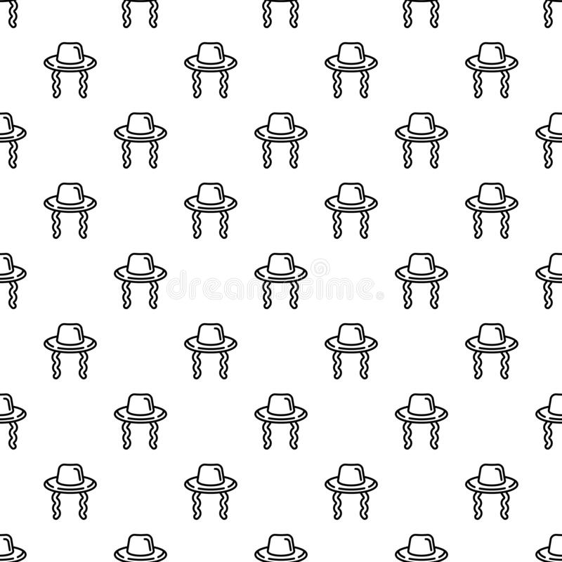 Jewish hat pattern seamless vector. Repeat for any web design stock illustration