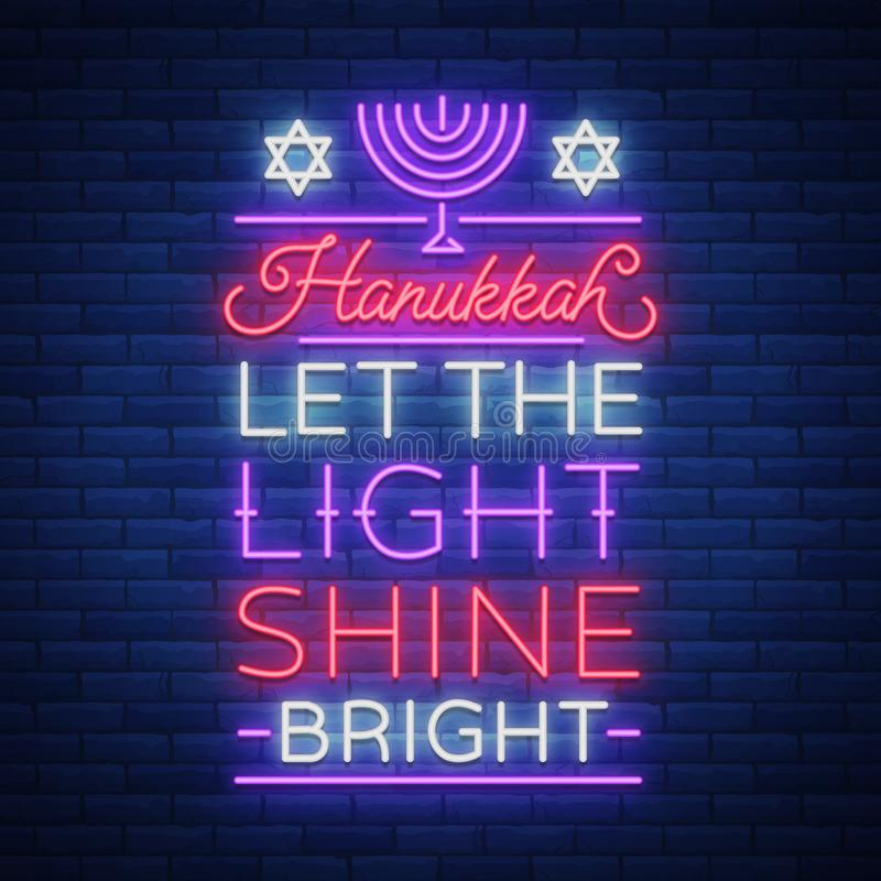 Jewish holiday hanukkah is a neon sign a greeting card a jewish holiday hanukkah is a neon sign a greeting card a traditional chanukah template happy hanukkah neon banner bright luminous sign m4hsunfo