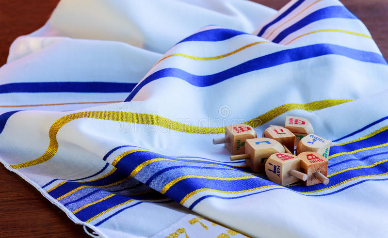 Jewish Holiday Hanukkah Tallit religious symbol. Jewish Holiday Hanukkah background with Tallit jewish religious symbol stock photos