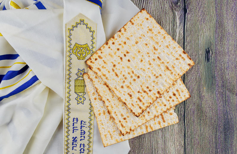 Jewish holiday Pesah Passover with matza royalty free stock photos