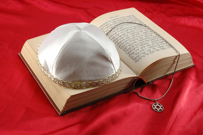 Jewish holiday still life with torah,david star royalty free stock image