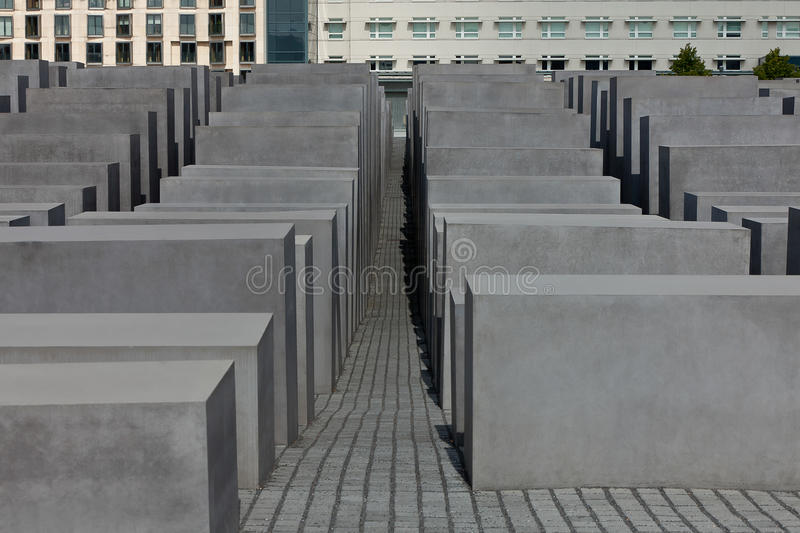Jewish Holocaust Memorial, berlin germany royalty free stock photo