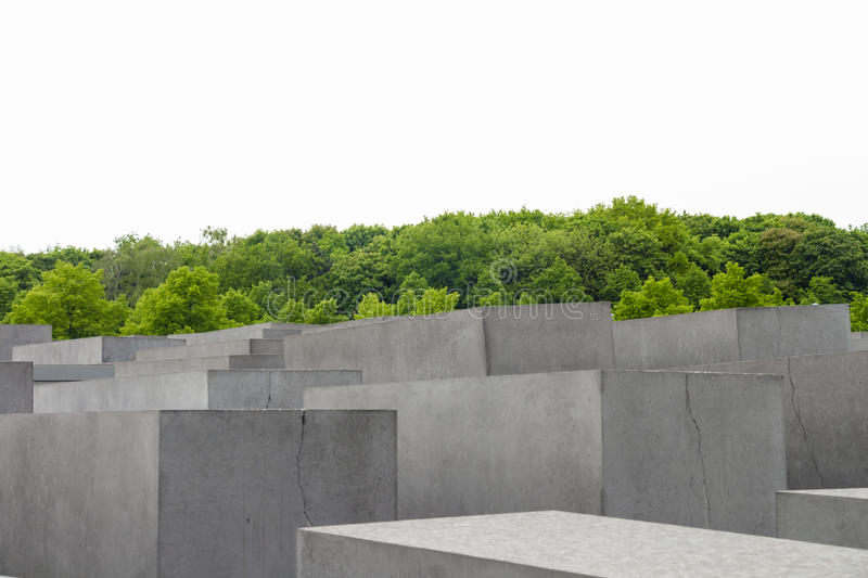 Jewish Holocaust Memorial monument in the city of Berlin royalty free stock photo