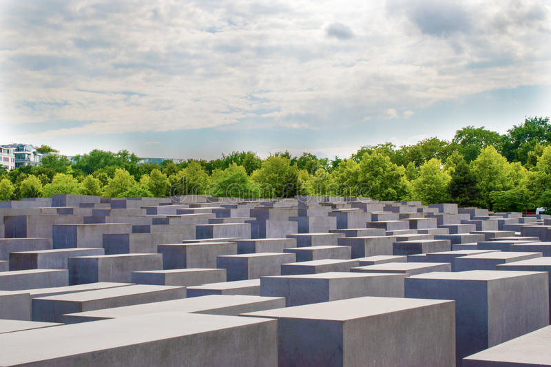Jewish Holocaust Memorial near Brandenburg Gate, Berlin. Jewish Holocaust Memorial near Brandenburg Gate Berlin, Germany royalty free stock photo