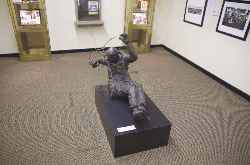 Jewish Holocaust victim statue at the Belz Museum royalty free stock photos