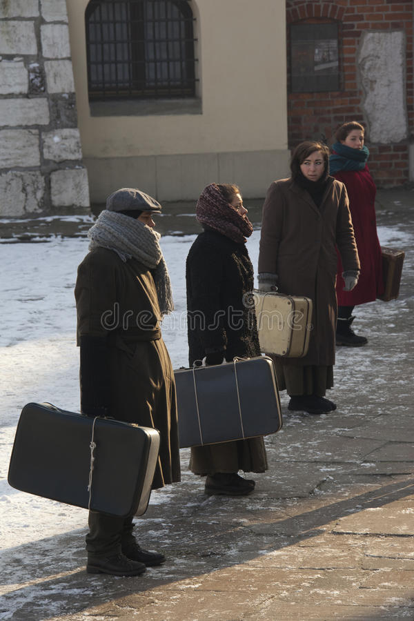 Download Jewish Interns - Poland (re-enactment) Editorial Photography - Image of jews, winter: 23382547