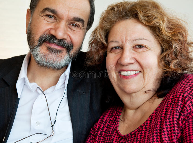Jewish mature people royalty free stock photography