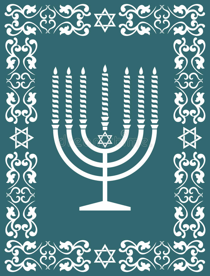 Jewish menorah design , vector illustration stock photos