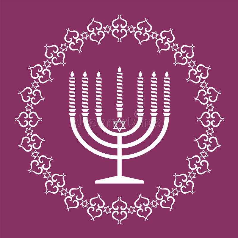 Jewish menorah holiday vector background royalty free stock photo