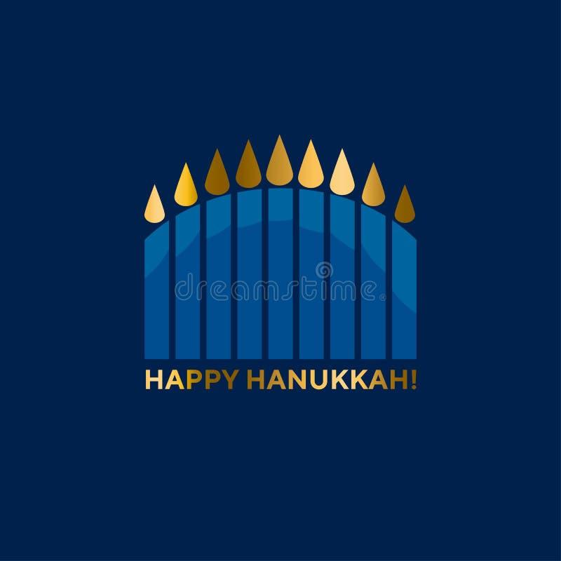 Jewish menorah simple vector icon. hanuka candles symbol. Hanukkah juish vector illustration. jewish menorah simple vector icon. hanuka candles symbol stock illustration