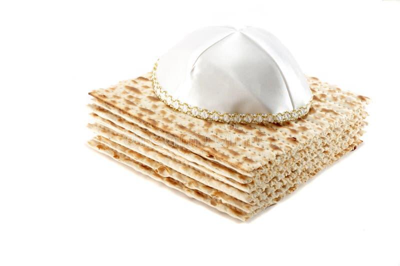 Jewish Passover holiday still life with matzoh stock image
