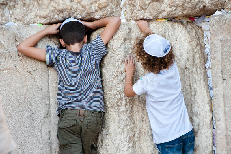 Jewish Prayer at Western Wall royalty free stock images