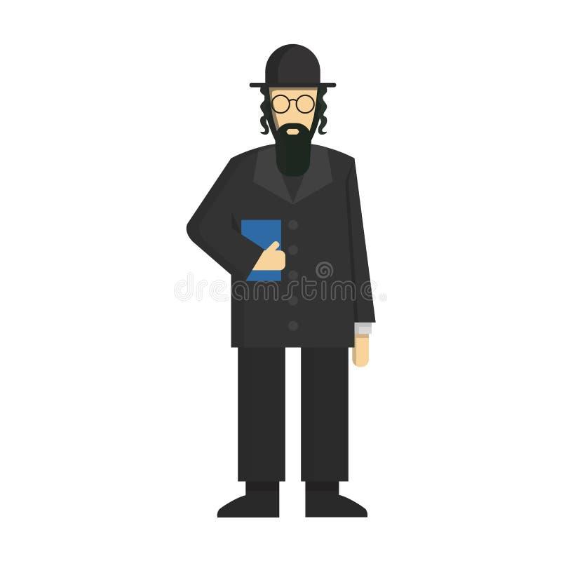 jewish rabbi. stock illustration
