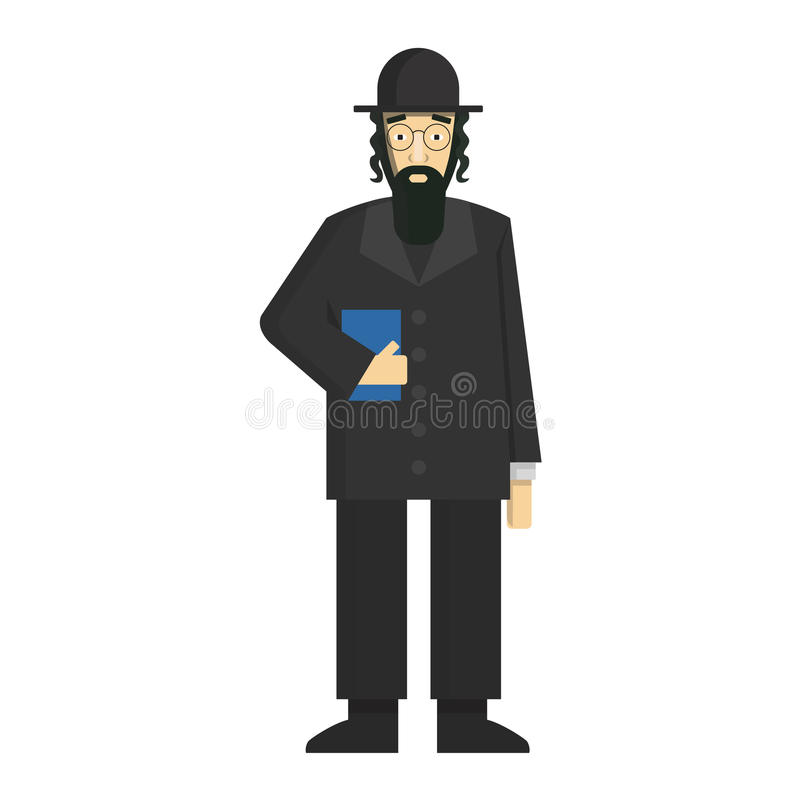 jewish rabbi. vector illustration