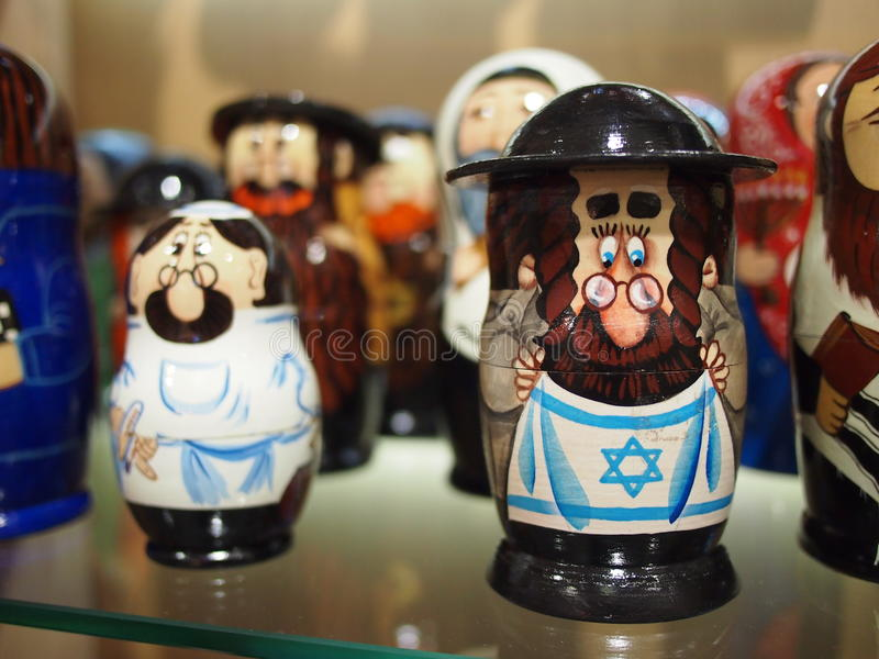 Jewish Russian Dolls royalty free stock image