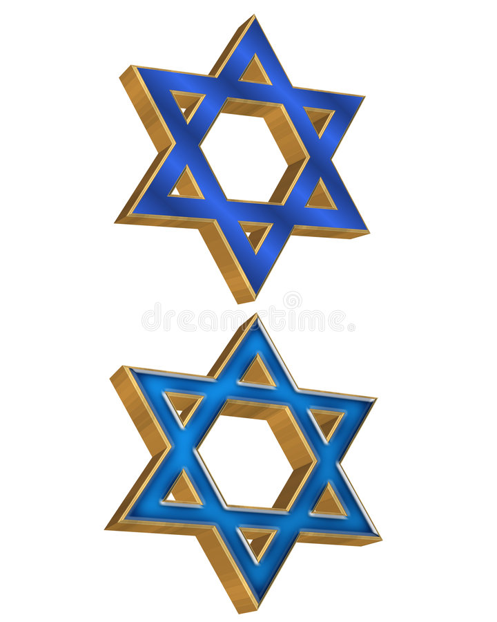 Download Jewish Star 2 styles 3D stock illustration. Image of holy - 6345376