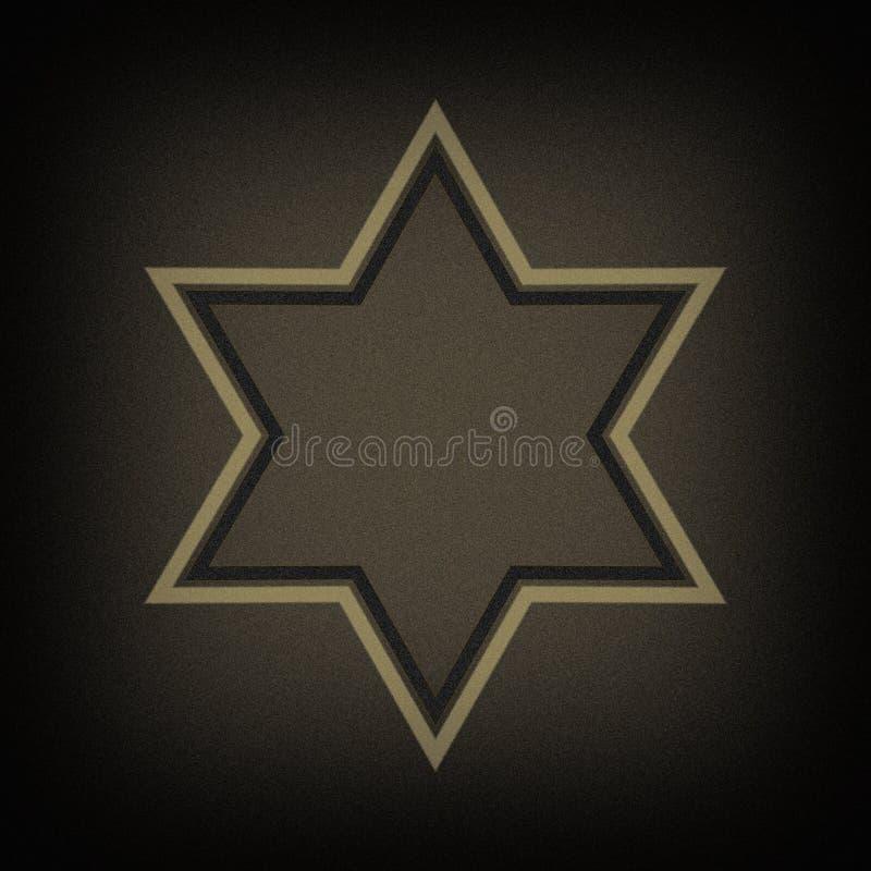 Jewish star. An dark noise background vector illustration