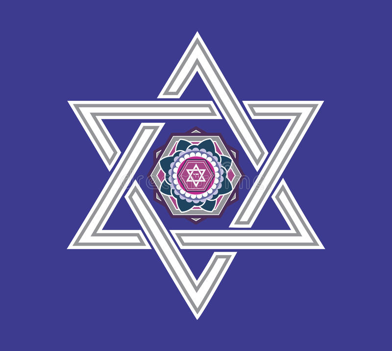 Jewish star design - illustration royalty free stock images