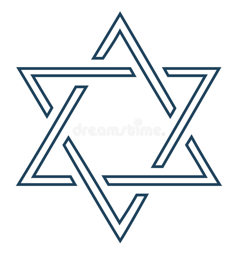Jewish star design on white background -vector royalty free stock photos