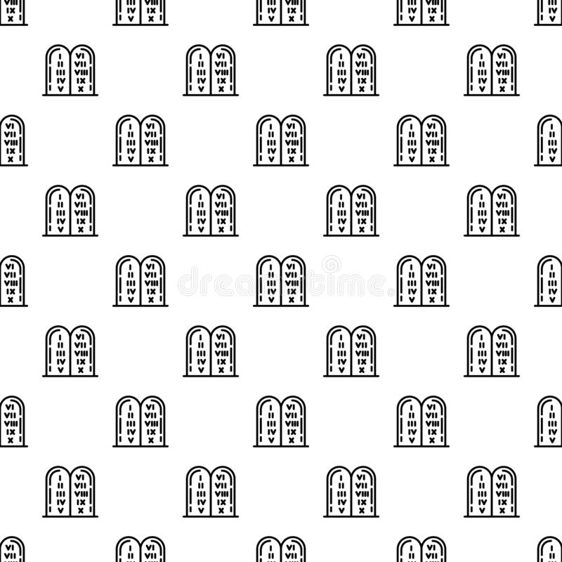 Jewish stones pattern seamless vector stock illustration