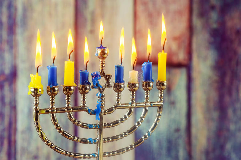 Jewish symbol Hanukkah, jewish holiday the Festival of Lights. Jewish holiday jewish symbol Hanukkah, the Jewish Festival of Lights royalty free stock image