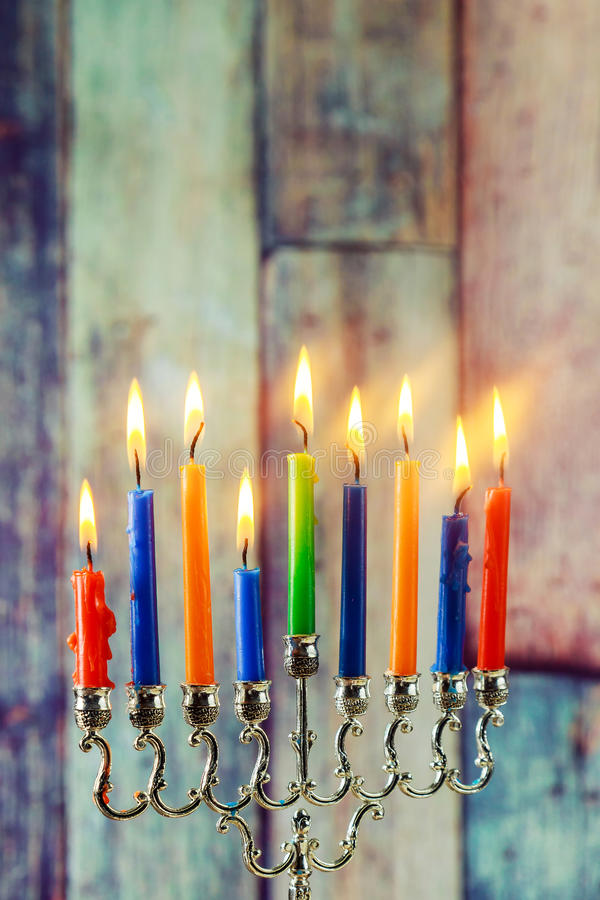 Jewish symbol Hanukkah, jewish holiday the Festival of Lights. Jewish holiday jewish symbol Hanukkah, the Jewish Festival of Lights royalty free stock photo