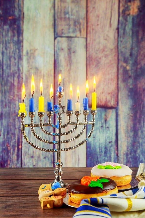 Jewish Symbols Hanukkah The Jewish Festival Of Lights Stock Image