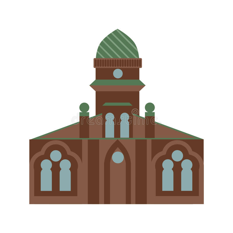 jewish synagogue. vector illustration