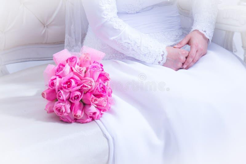 Jewish wedding. Bridal Bouquet. Zer kalah stock photos