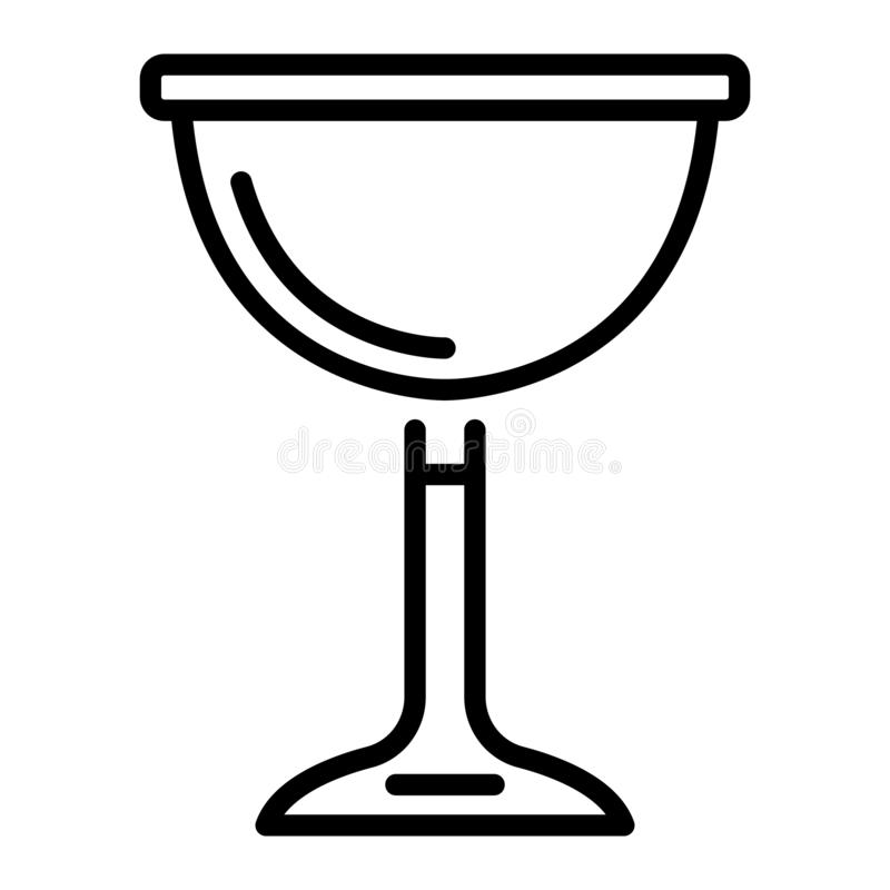 Jewish wine cup icon, outline style stock illustration