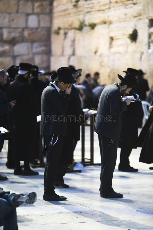 Download Jews Being Prayed At The Western Wall Editorial Image - Image: 40147630