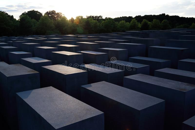 Jews monument in Berlin stock photos