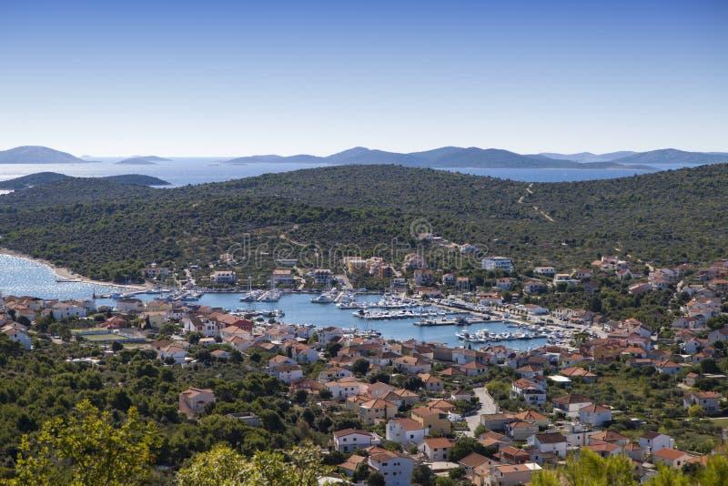 Jezera, Dalmatia, Chorwacja obraz royalty free