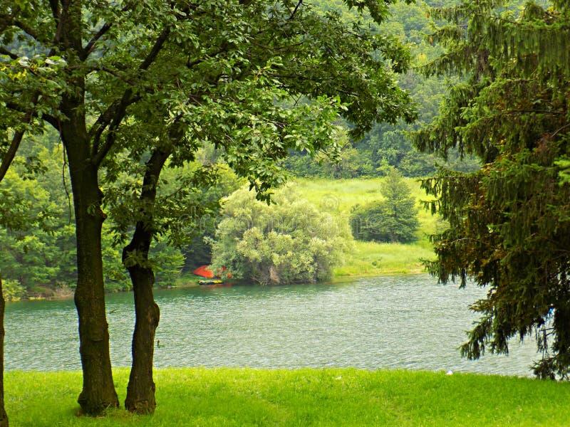 Jezero de Borsko fotos de stock