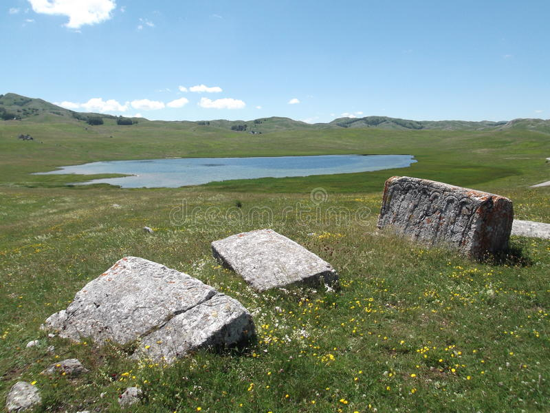 Jezero de Riblje foto de archivo libre de regalías